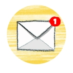 Email notification icon - you have one new email